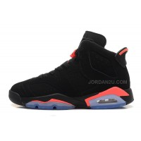 "2016 Air Jordan 6 (VI) Retro ""Black Infrared"" Black/Black-Infrared For Sale"