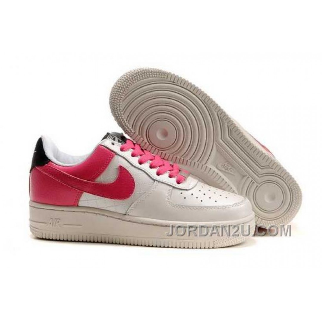 nike air force 1 low womens white pink 7666z price 74. Black Bedroom Furniture Sets. Home Design Ideas
