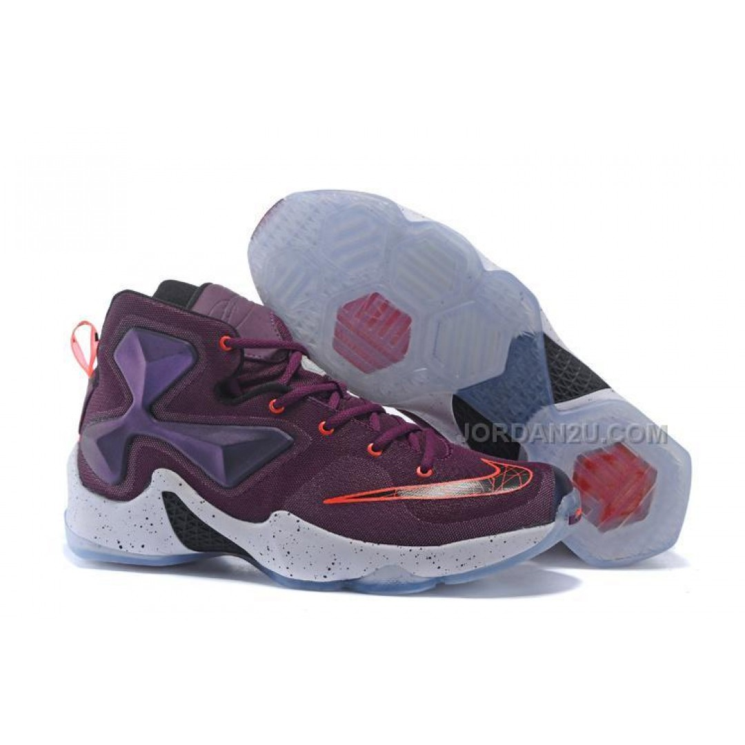 Lebron james shoes for kids purple and blue