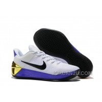 Cheap Nike Kobe A.D. 12 White Black Purple Gold New Release THdzsSi
