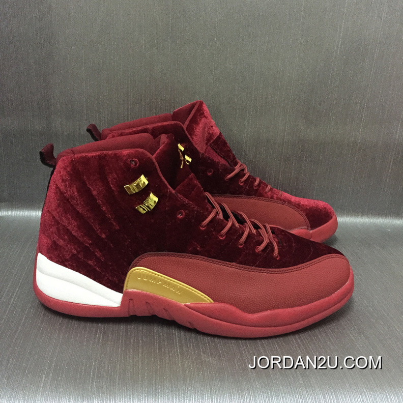 reputable site ce47b 4c6bd AJ12 Burgundy Velvet Air Jordan 12 Cheap To Buy P5kiD