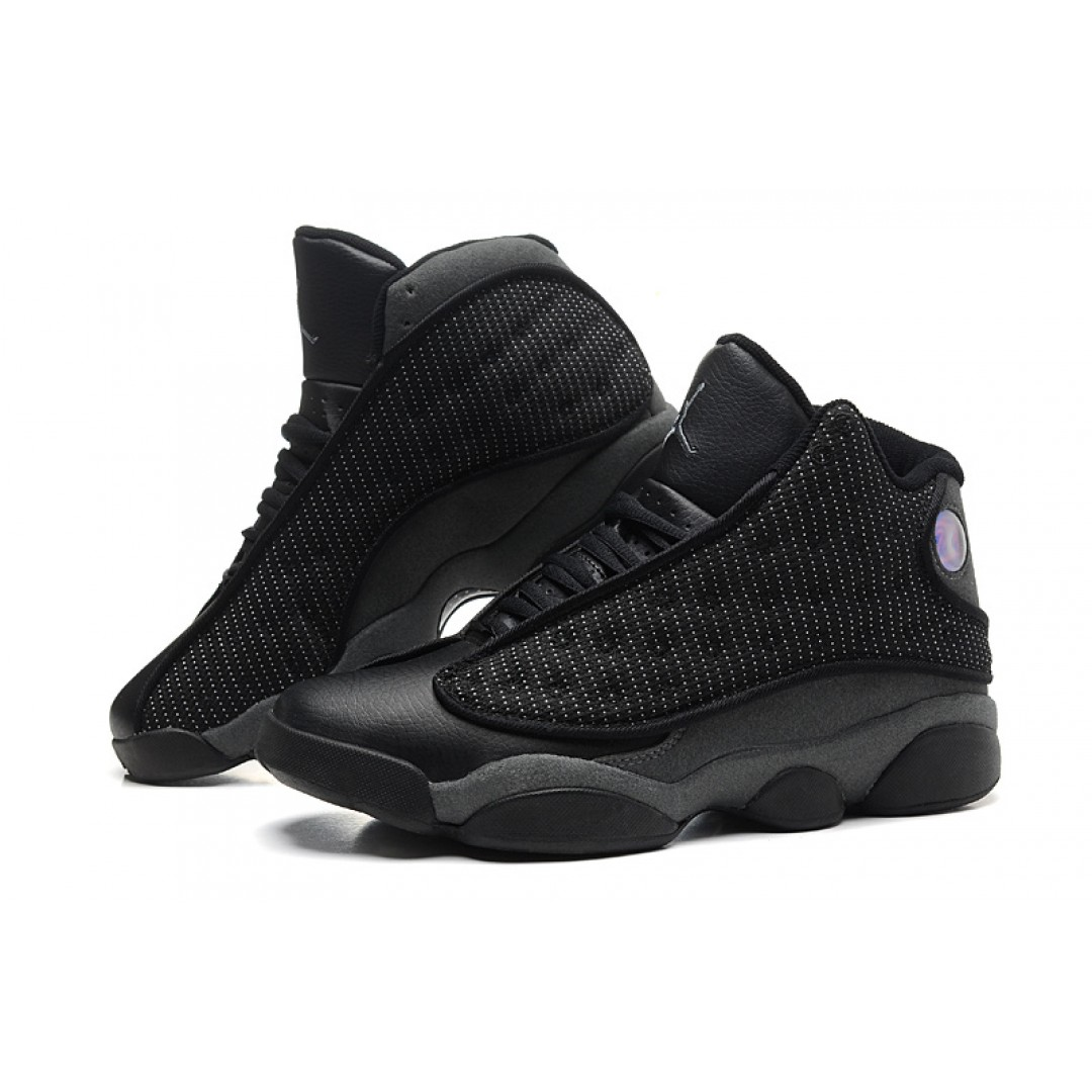 715be7667ad ... Sale Cheap Air Jordan 13 Retro All Black Online ...